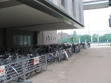 Present: Bicycle parking zone, north side of Yoshida-South Campus Academic Center Bldg.