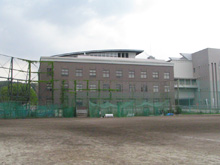 Present: Yoshida-South Campus Academic Center Bldg. viewed from Yoshida-South Campus Sports Ground